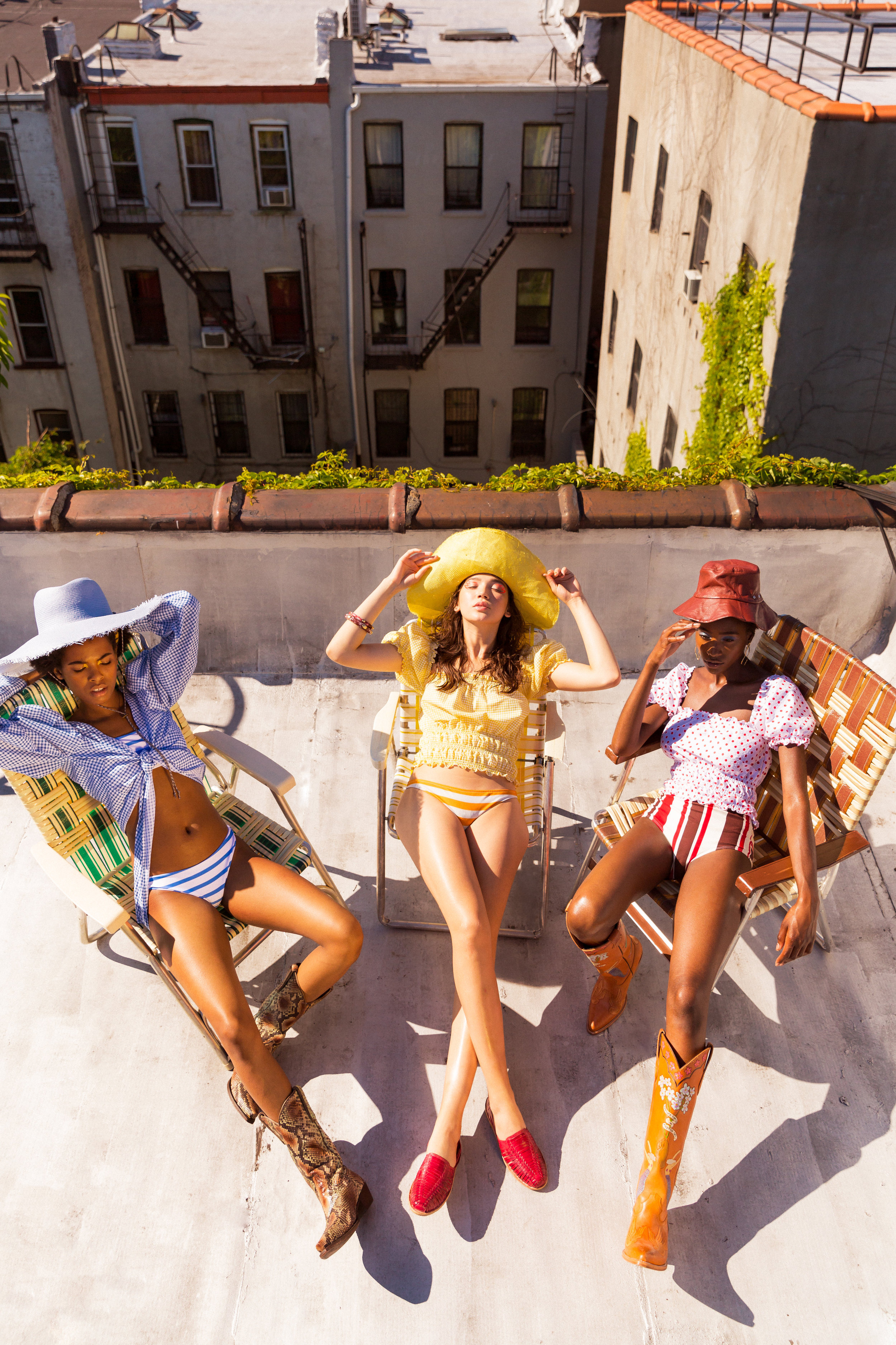 Sustainable Swimwear Editorial for NYLON Magazine