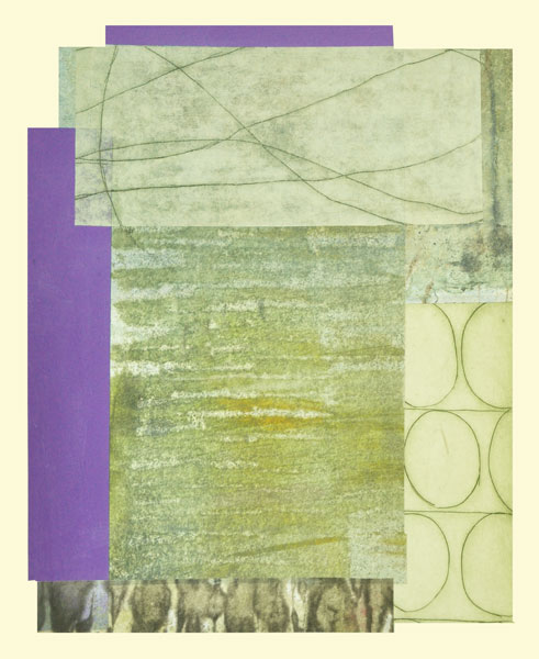Collage 7, Encaustic and Collage, 18 x 14