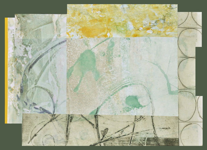 Collage 14, Encaustic and Collage, 18 x 14