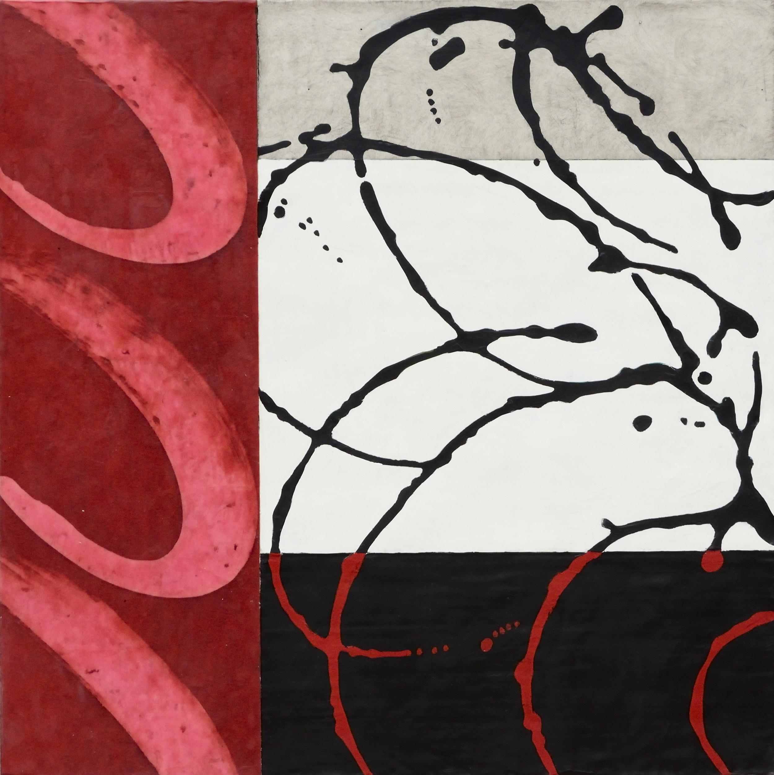 Vertiginous, Encaustic on Panel, 24 x 24
