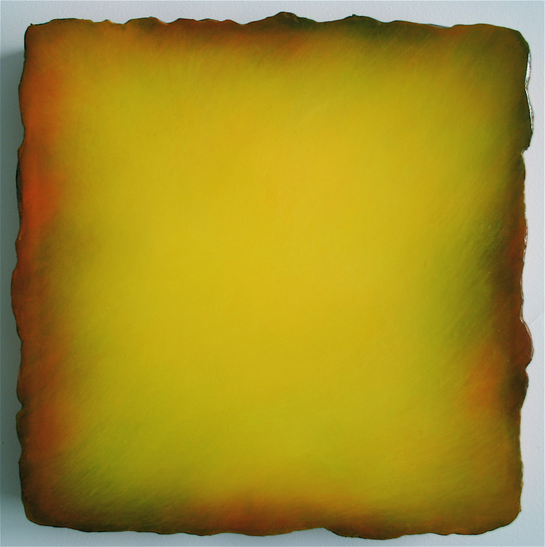 #3312 Yellow,  Oil on Canvas on Gesso-plaster Ground, 13 x 13