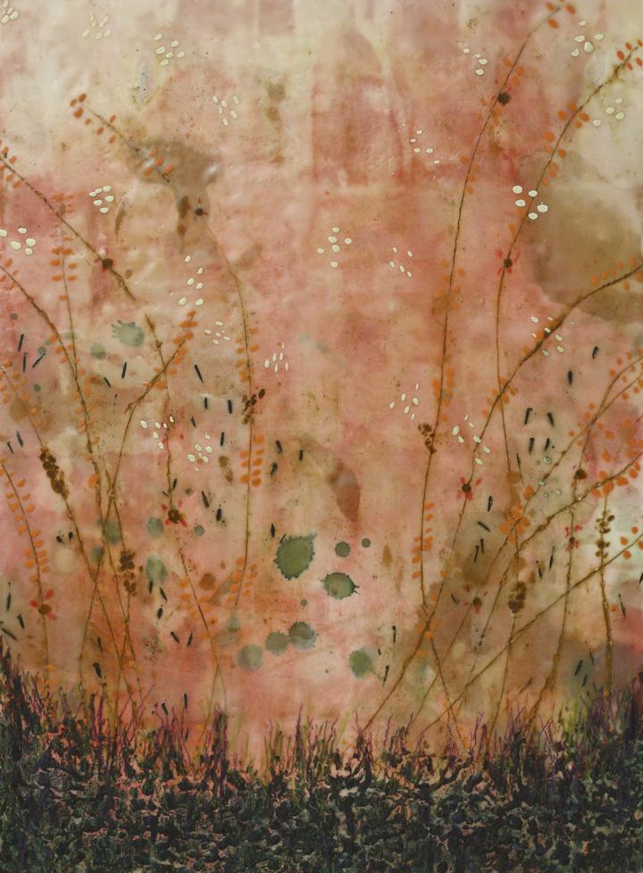 Ambrosia Morning, Encaustic on Panel, 30 x 22
