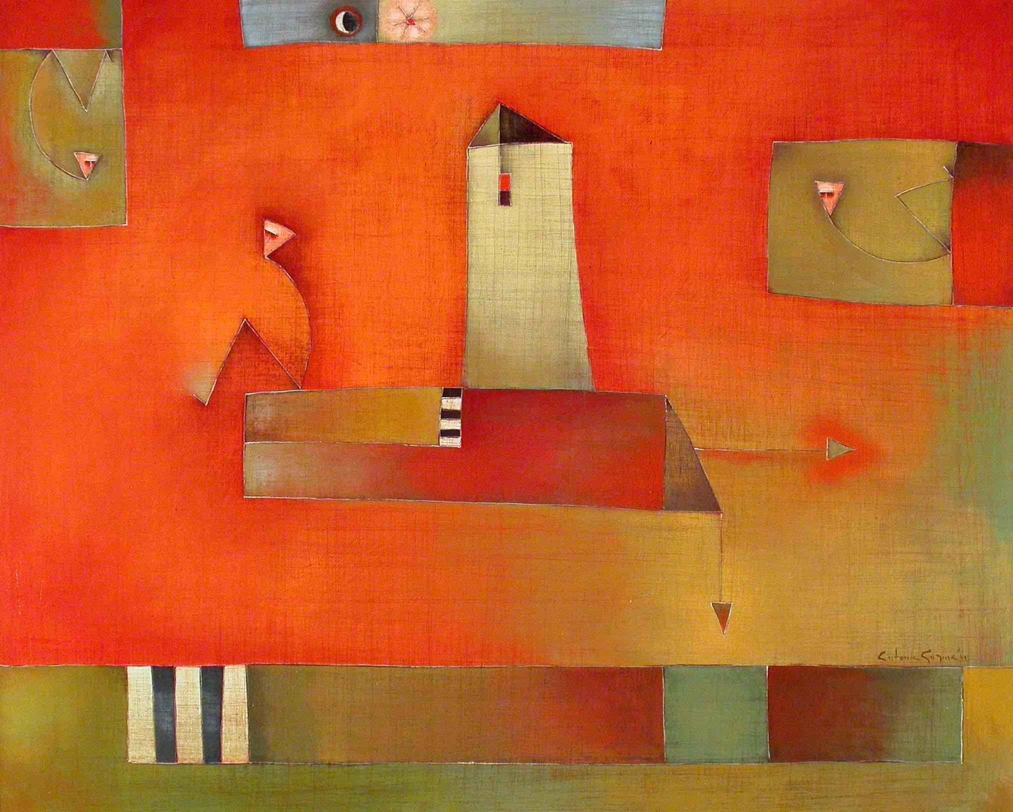 Sin Rombo Fijo, Acrylic on Canvas, 31 x 39