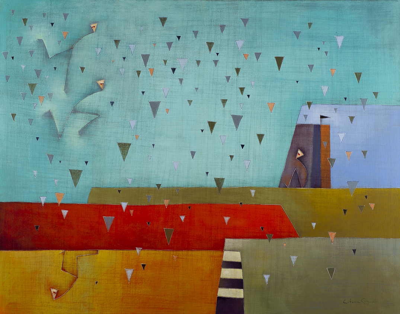 Llegar Caundo Llueve Acrylic on Canvas, 38 x 52