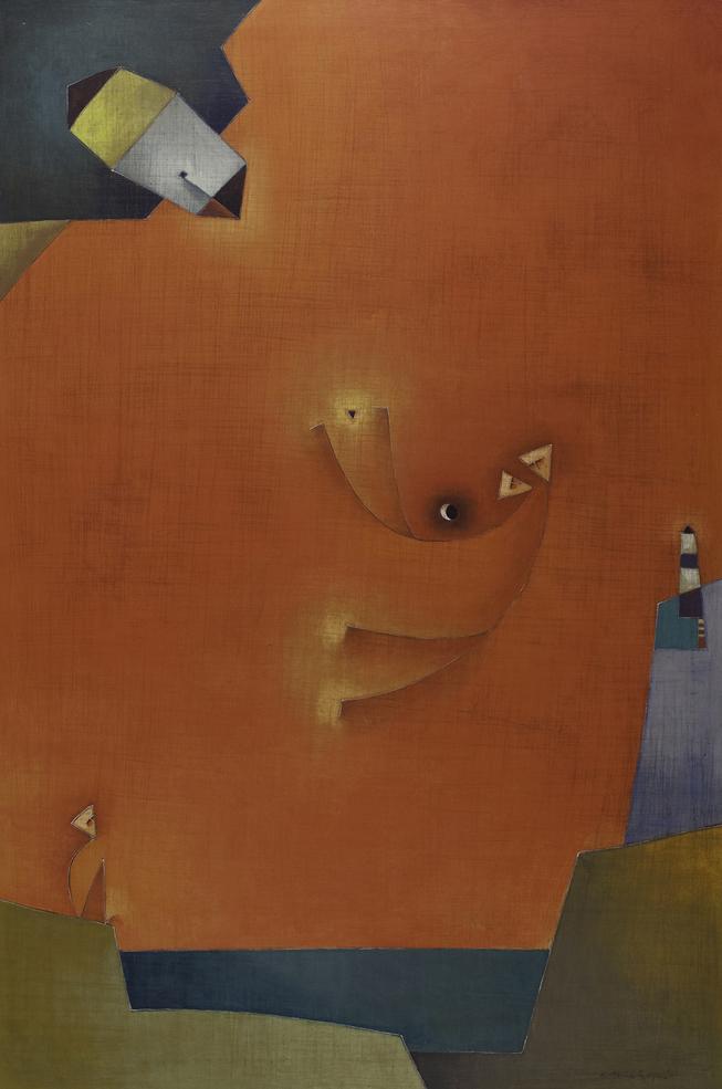 Vuelo En Luna Fertile, Acrylic on Canvas, 47 x 32