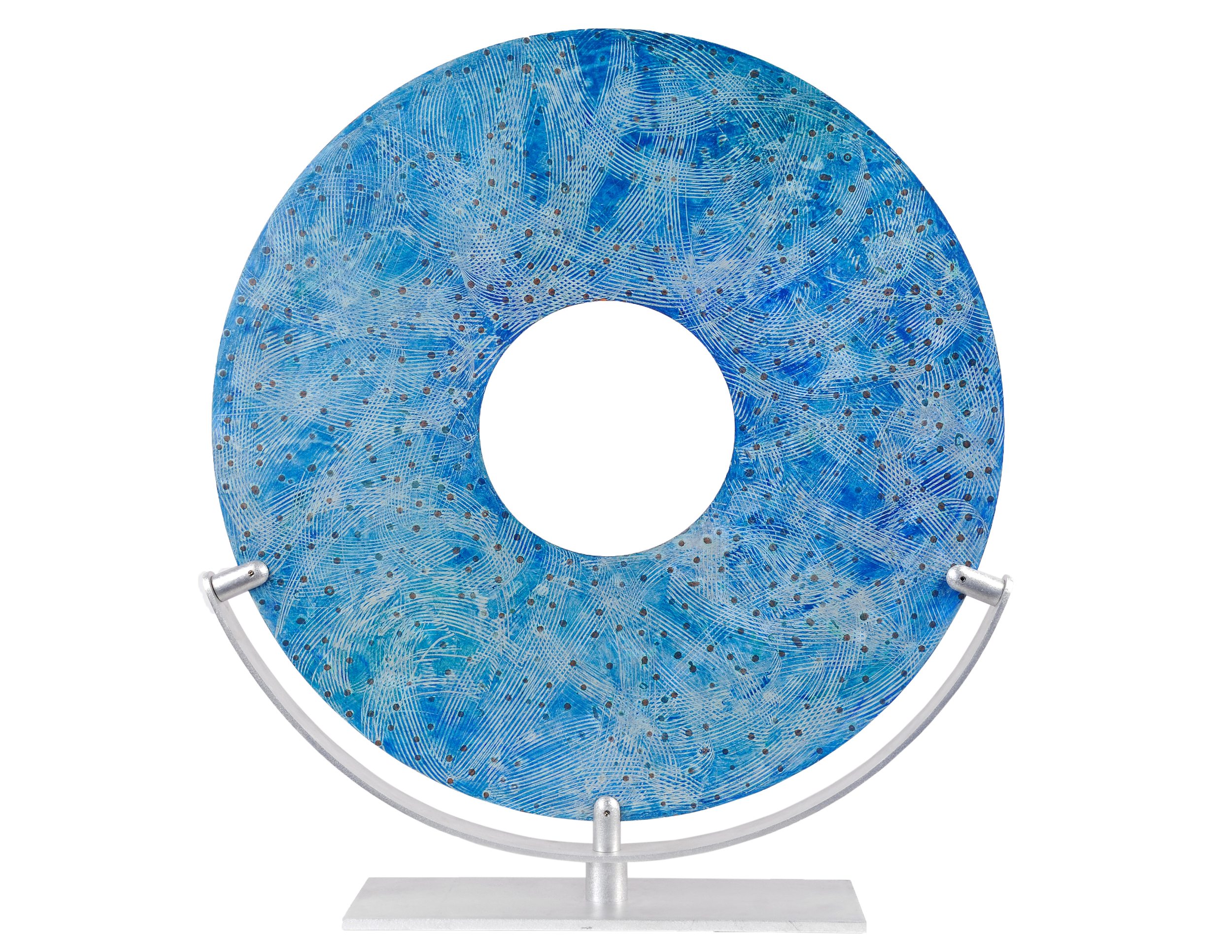 "Relic No. 3 (side two), Acrylic and Wax on Aluminum Panel, 29"" Diameter"