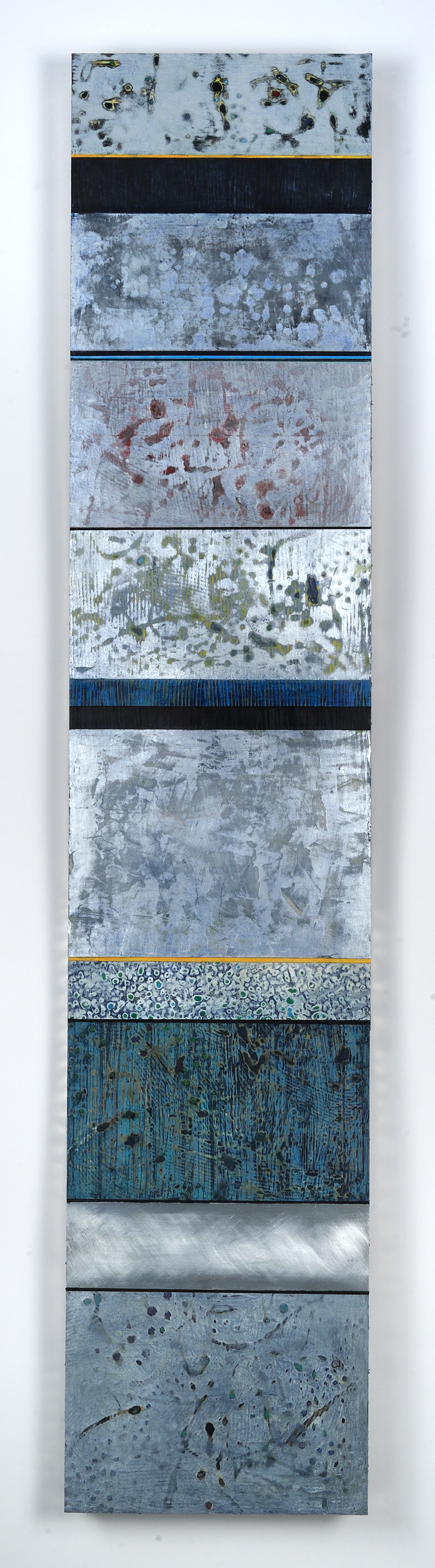 Strata 15 -3, Acrylic and Wax on Aluminum Panel, 58 x 12