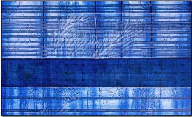 Blissom, Mixed Media on Panel, 48 x80