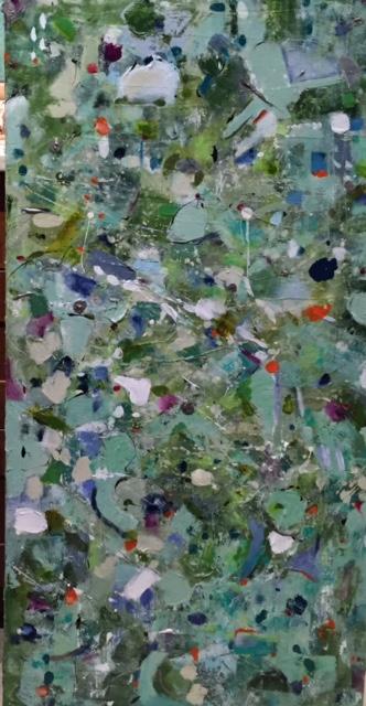 Etta, Mixed Media on Canvas, 48 x 24