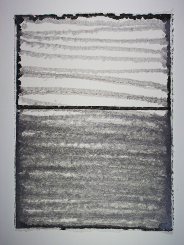 Black, White and Silver 1, Monoprint on Handmade Paper, 29 x 21