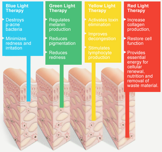 led light therapy facial dermaenvy mount pearl