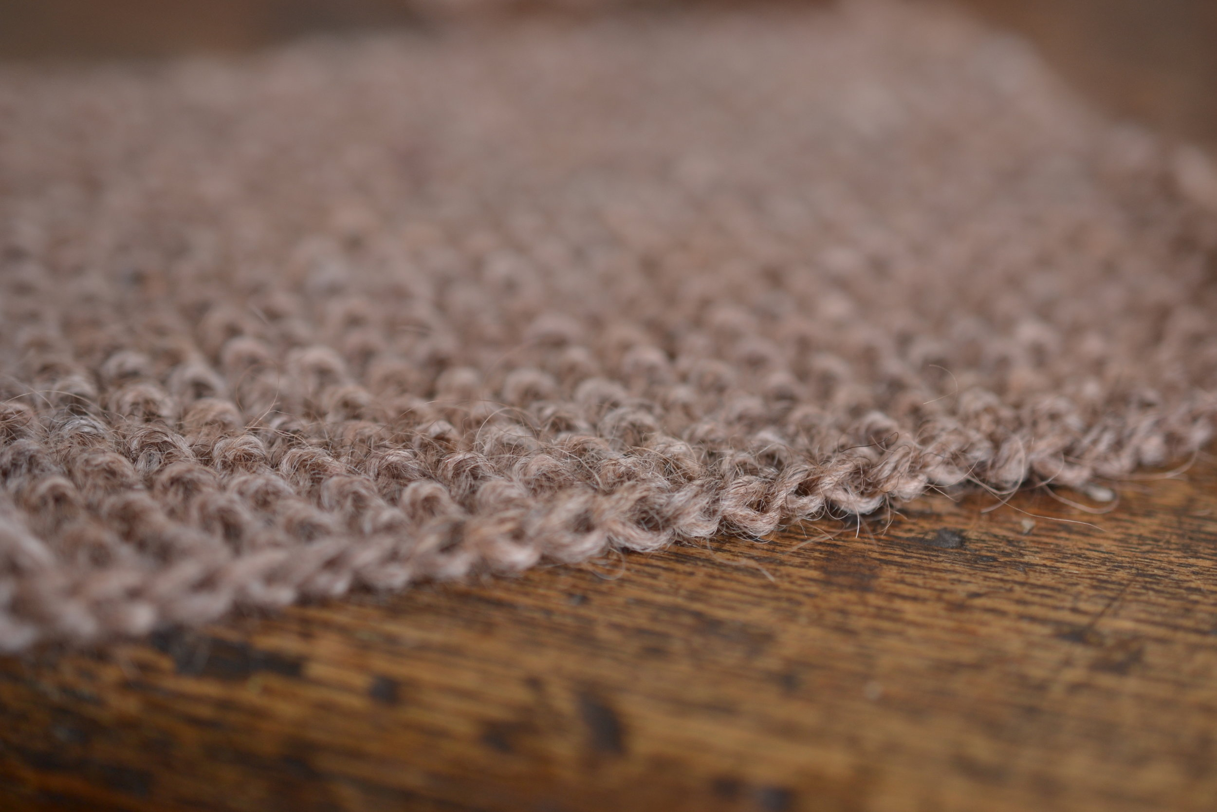 seed stitch swatch knit in GIANT PEACH