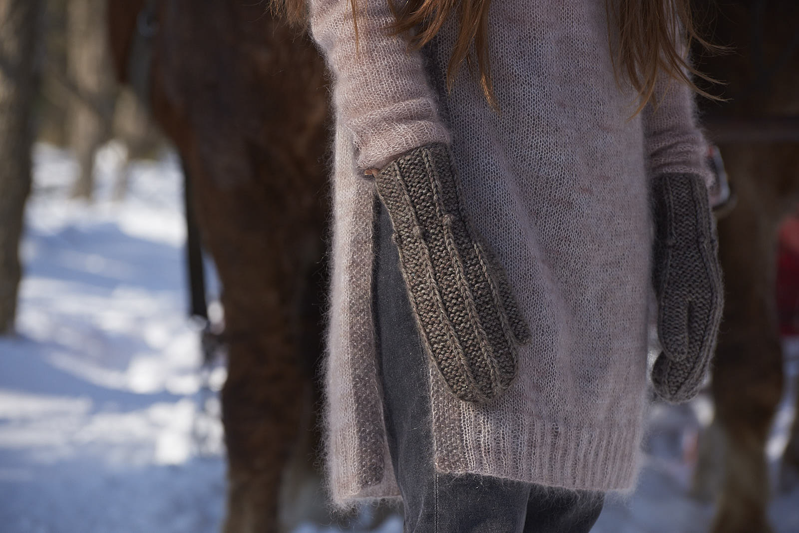 Frost Tunic and Skyhill Mittens
