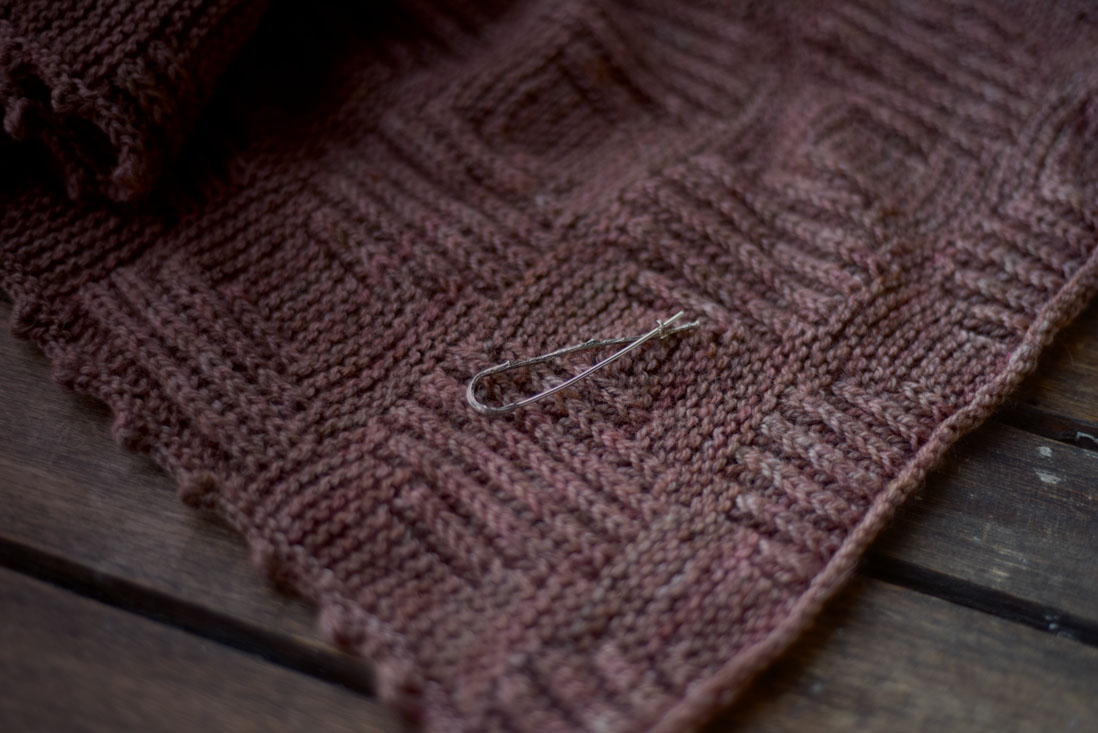 Sterling silver shawl pin by Hedgling (Sachiko Burgin)