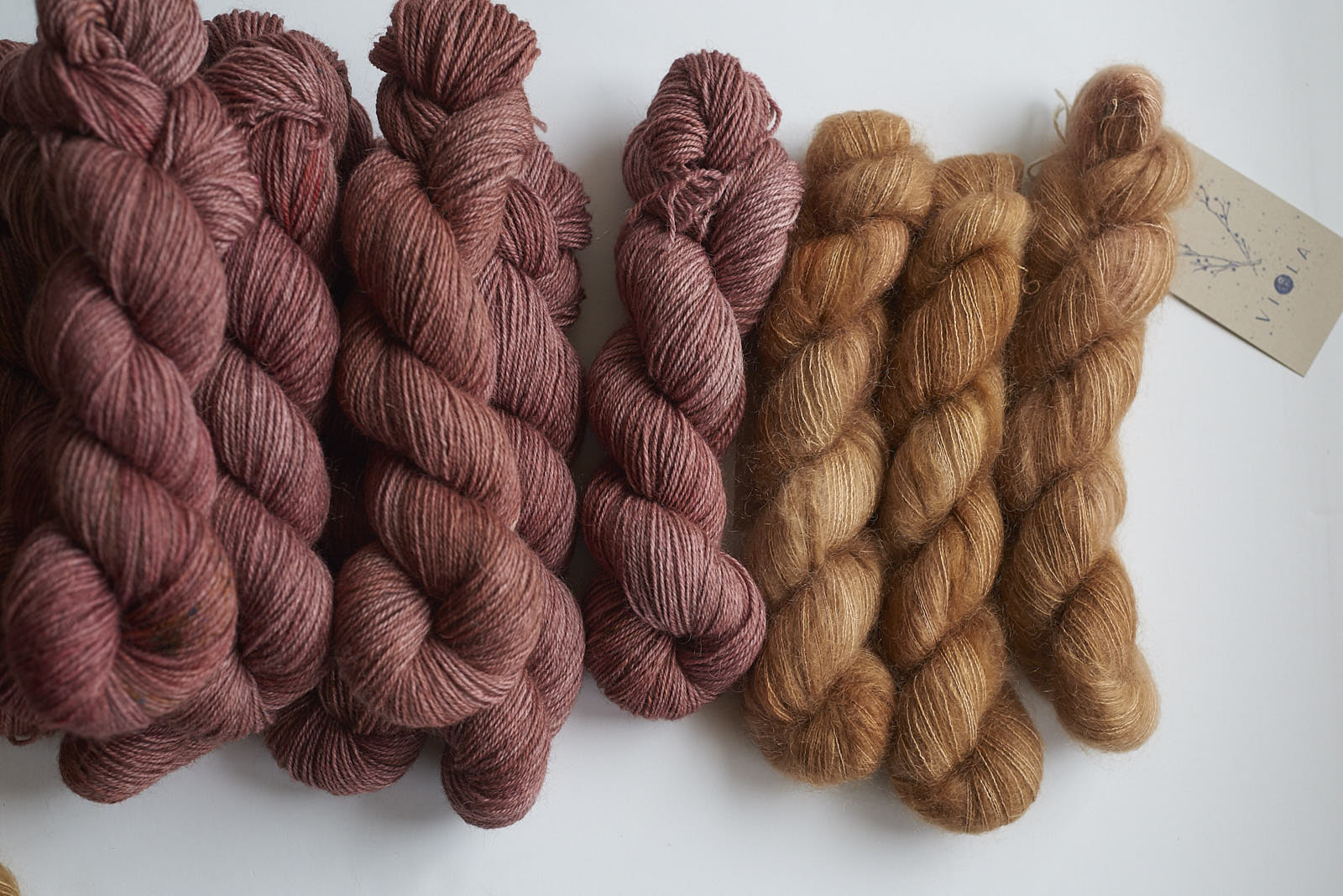 Fireside Shadow DK with Down to the Wire Mohair Lace