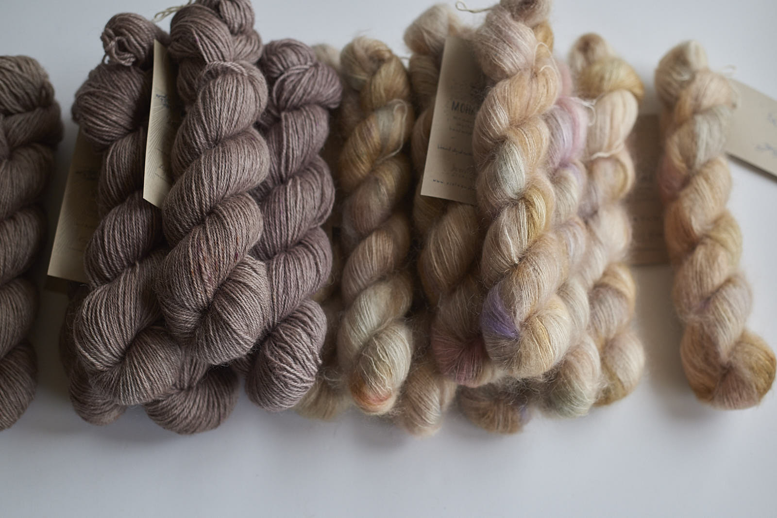 Light Bronte Shadow DK with Sweet Dreams Mohair Lace