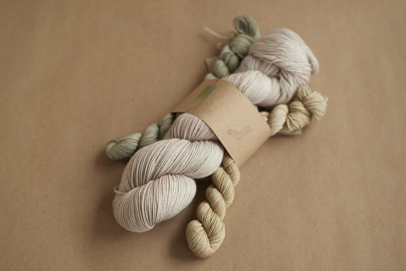 Favourite Sock Kit # 3: Cygnet with Moonlight and Dew Drop Sock Minis