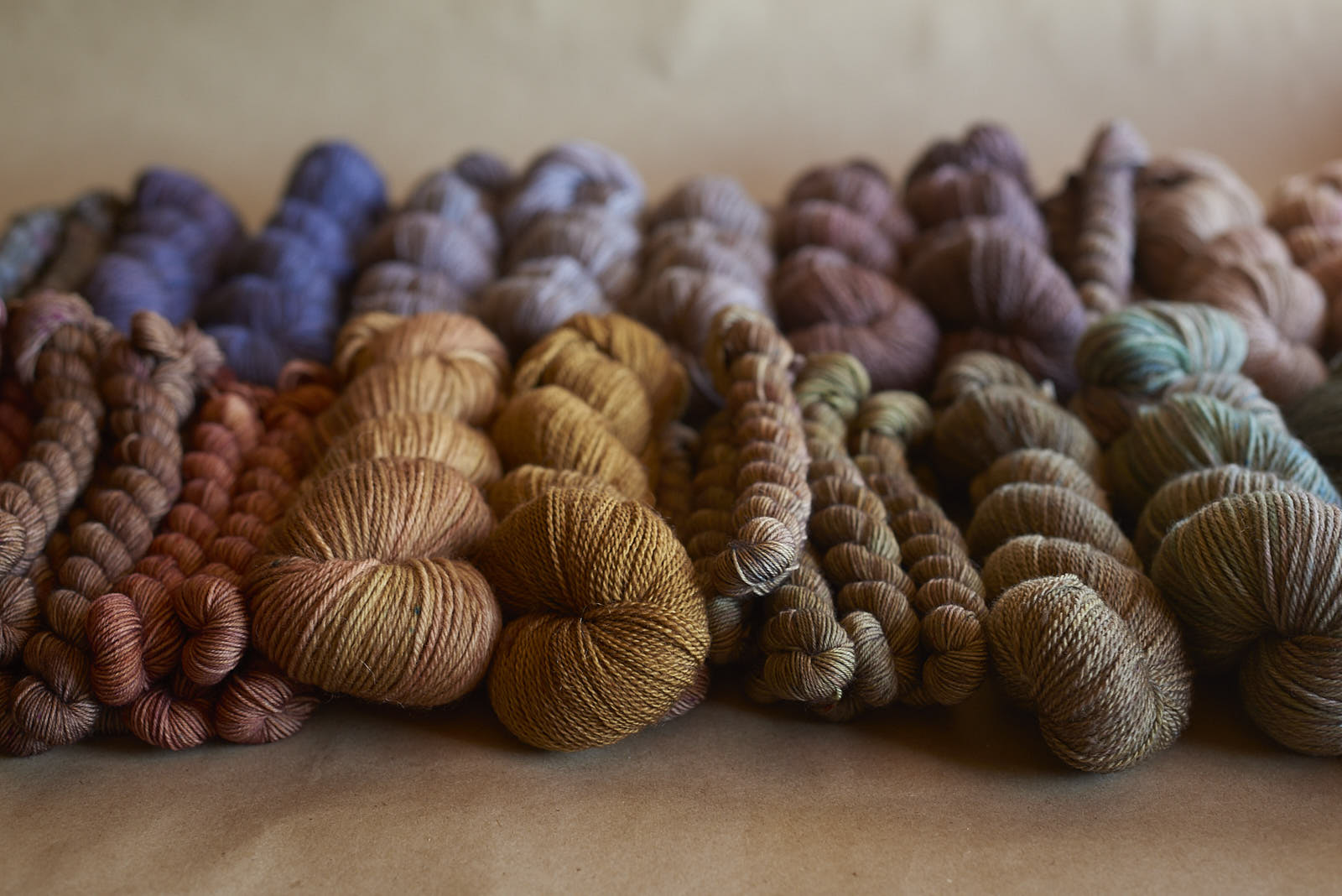 some of our stash of Eclipse skeins ready for the Open Day!