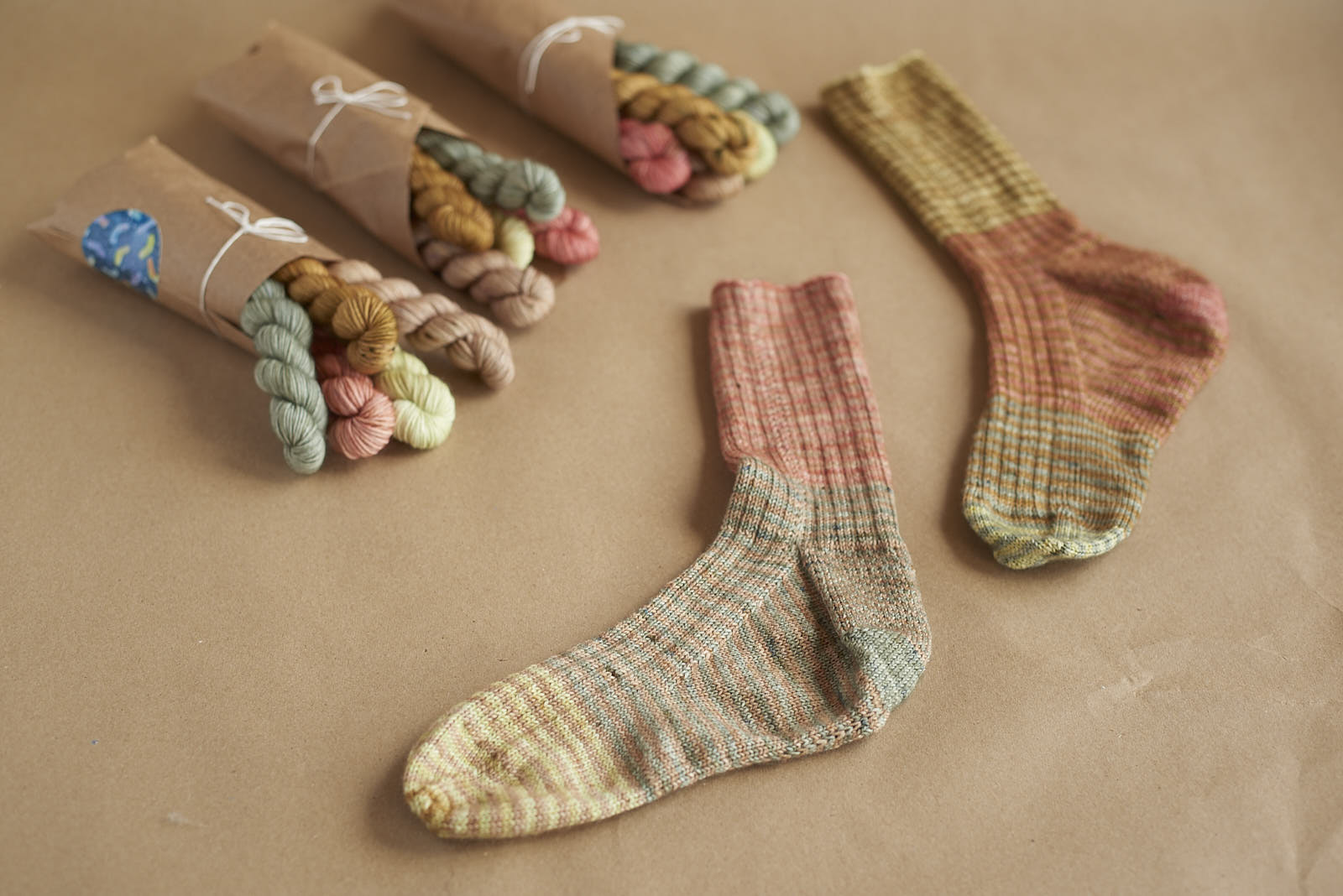 sock mini bundles! Here's one colour option knit into a pair of  Favourite Socks !