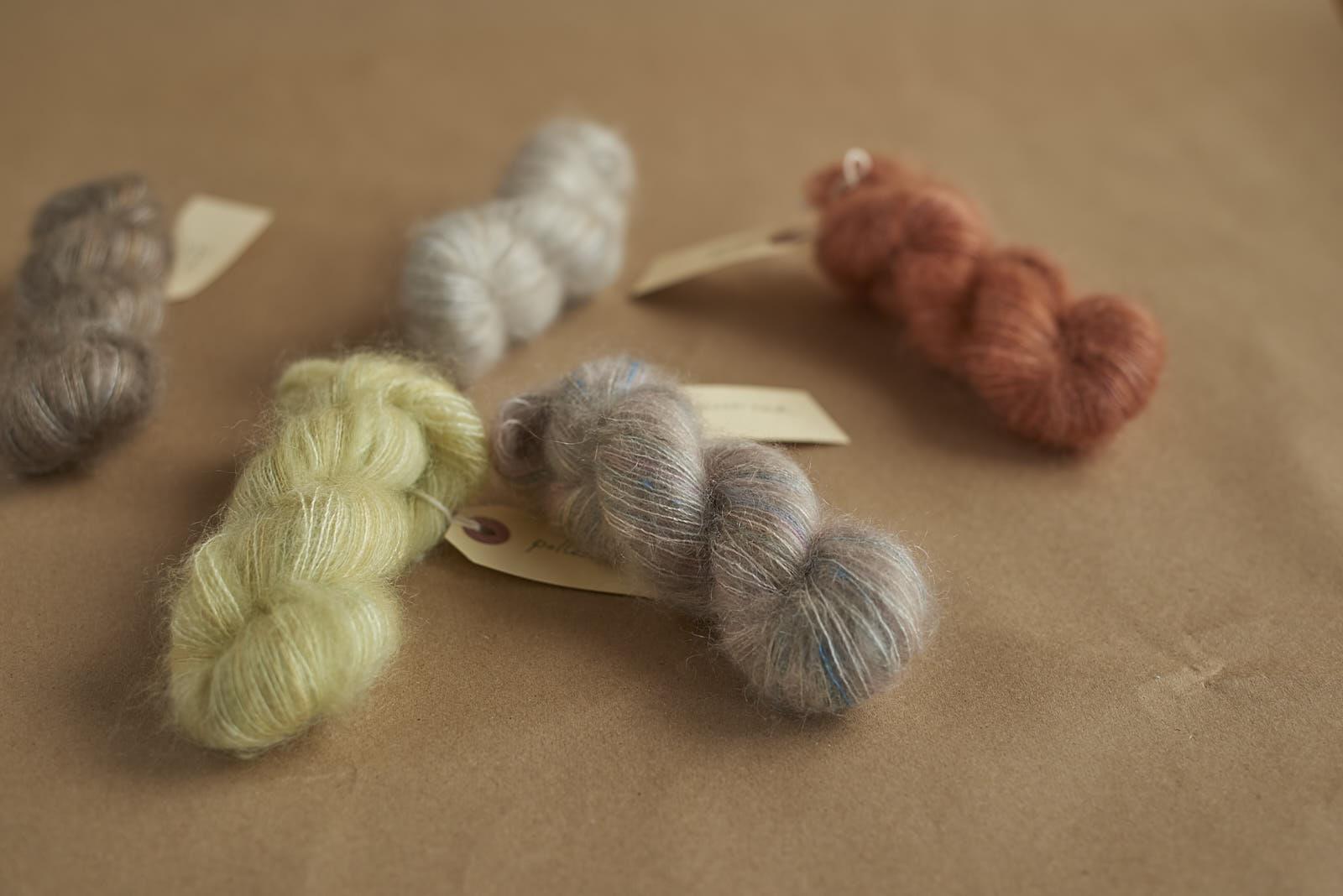 sweet mohair minis! Ideal for knitting the dreamiest party socks of all time AKA  Watashi No Yume  socks by Sachiko Burgin.