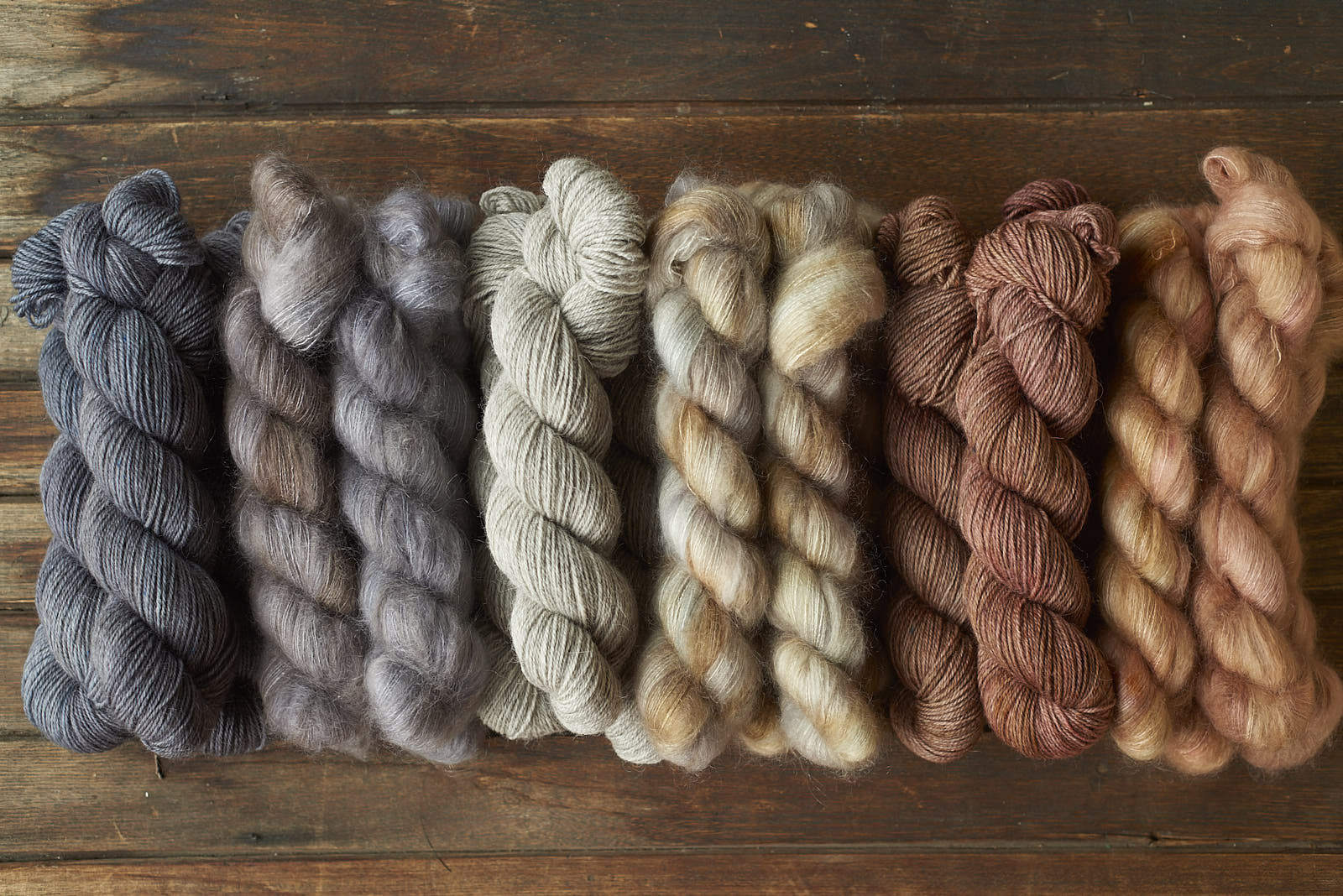 three colour options for Apricite kits: Midnight/Walrus, Natural/Opal & Down to the Wire/Rose Gold Dust.