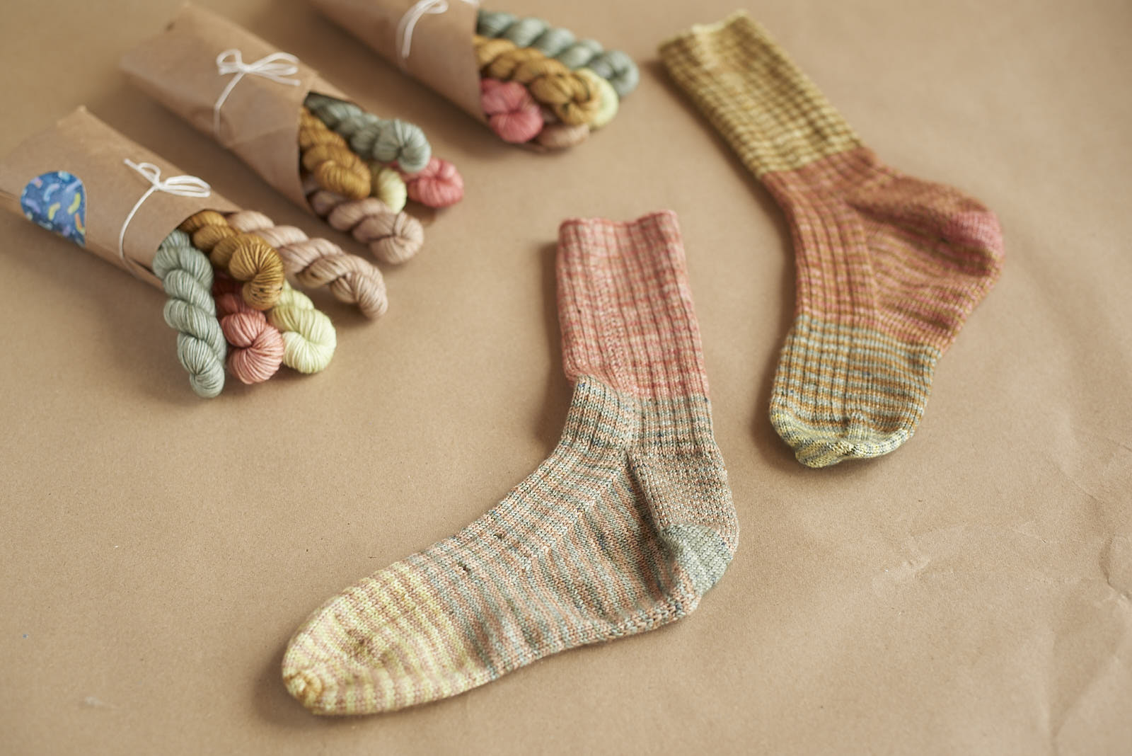 Favourite Socks  knit with a mini skein bundle!