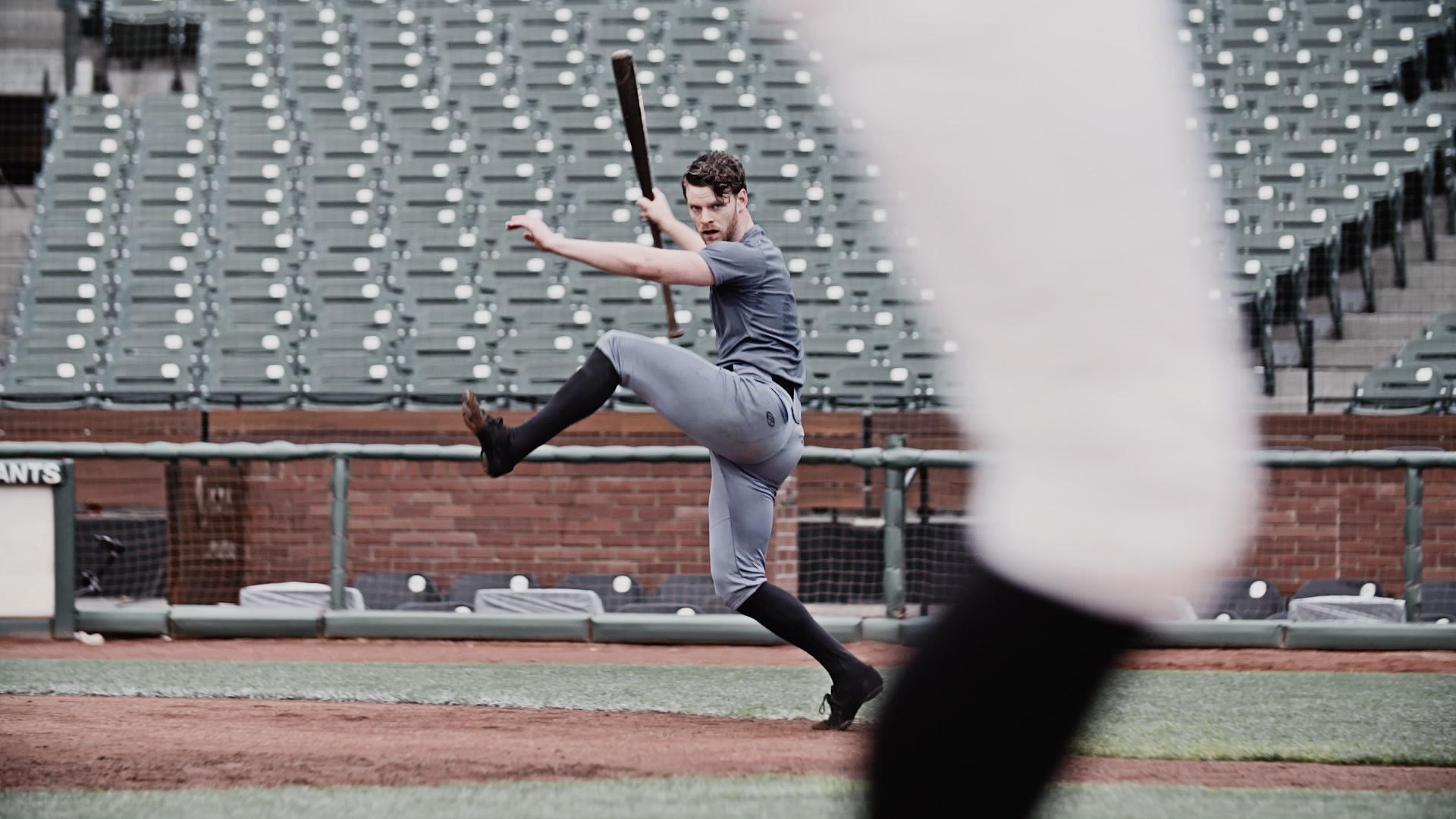 """Weston Krukow in """"Run Around"""" [Photo by David DeSilva]"""