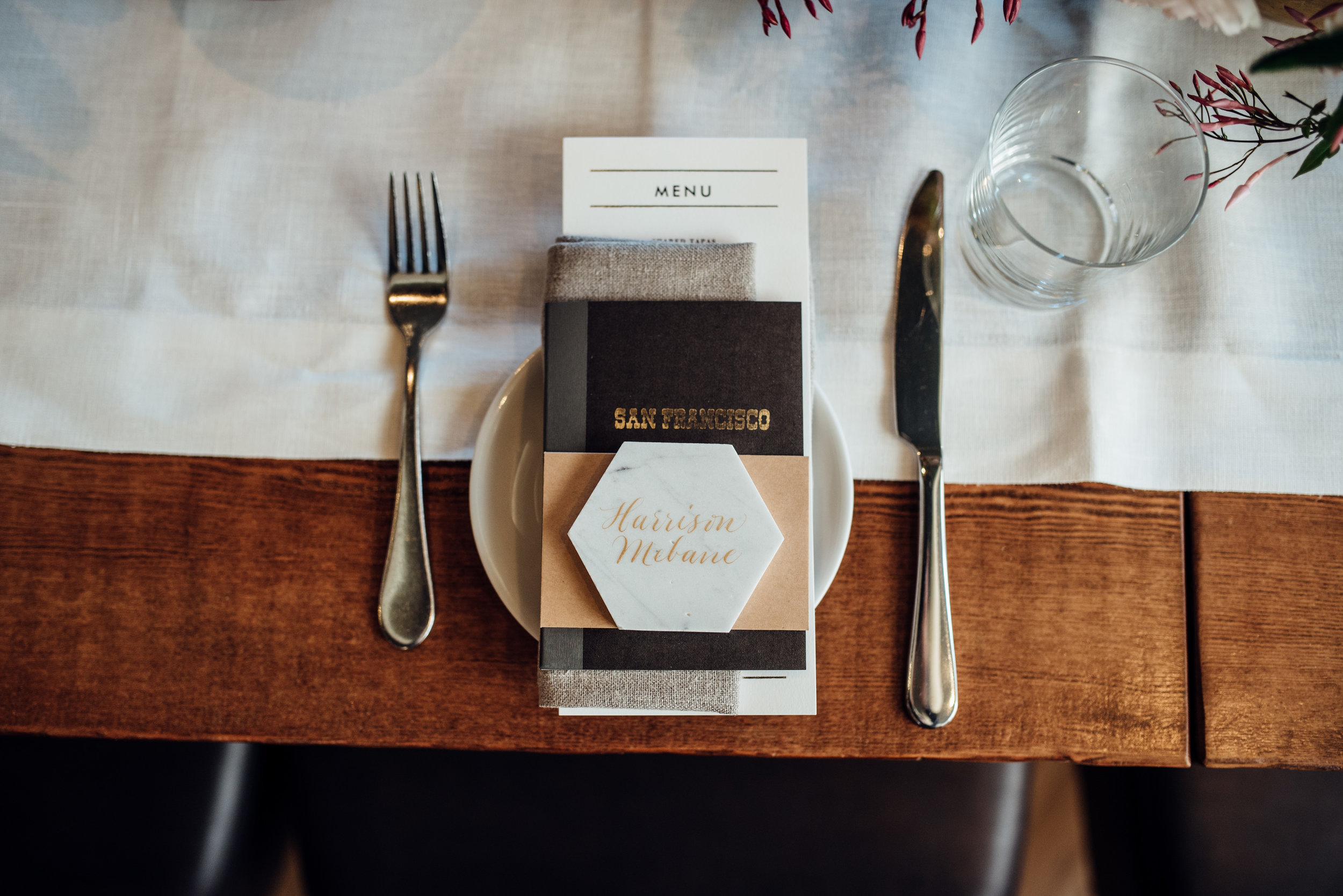 Midcentury placesetting - duy ho photography