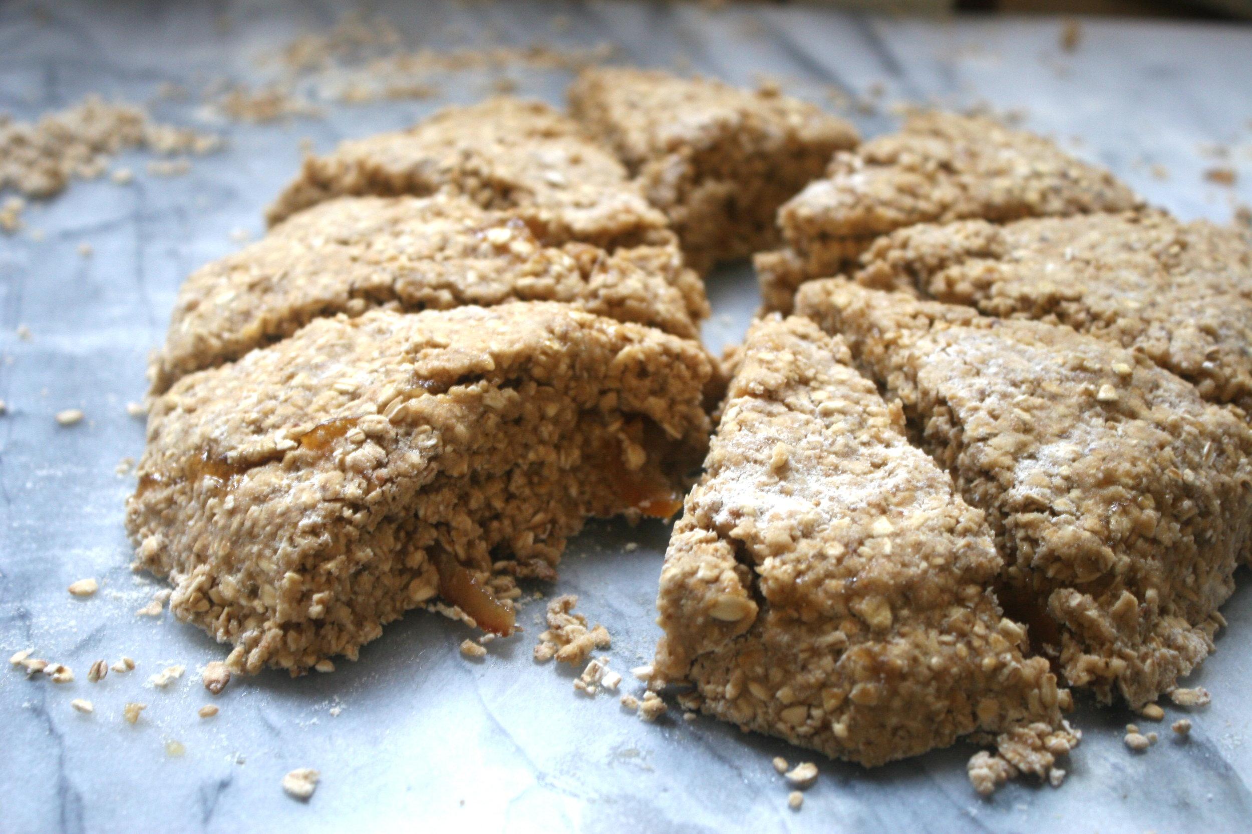 winter oat scone wedges