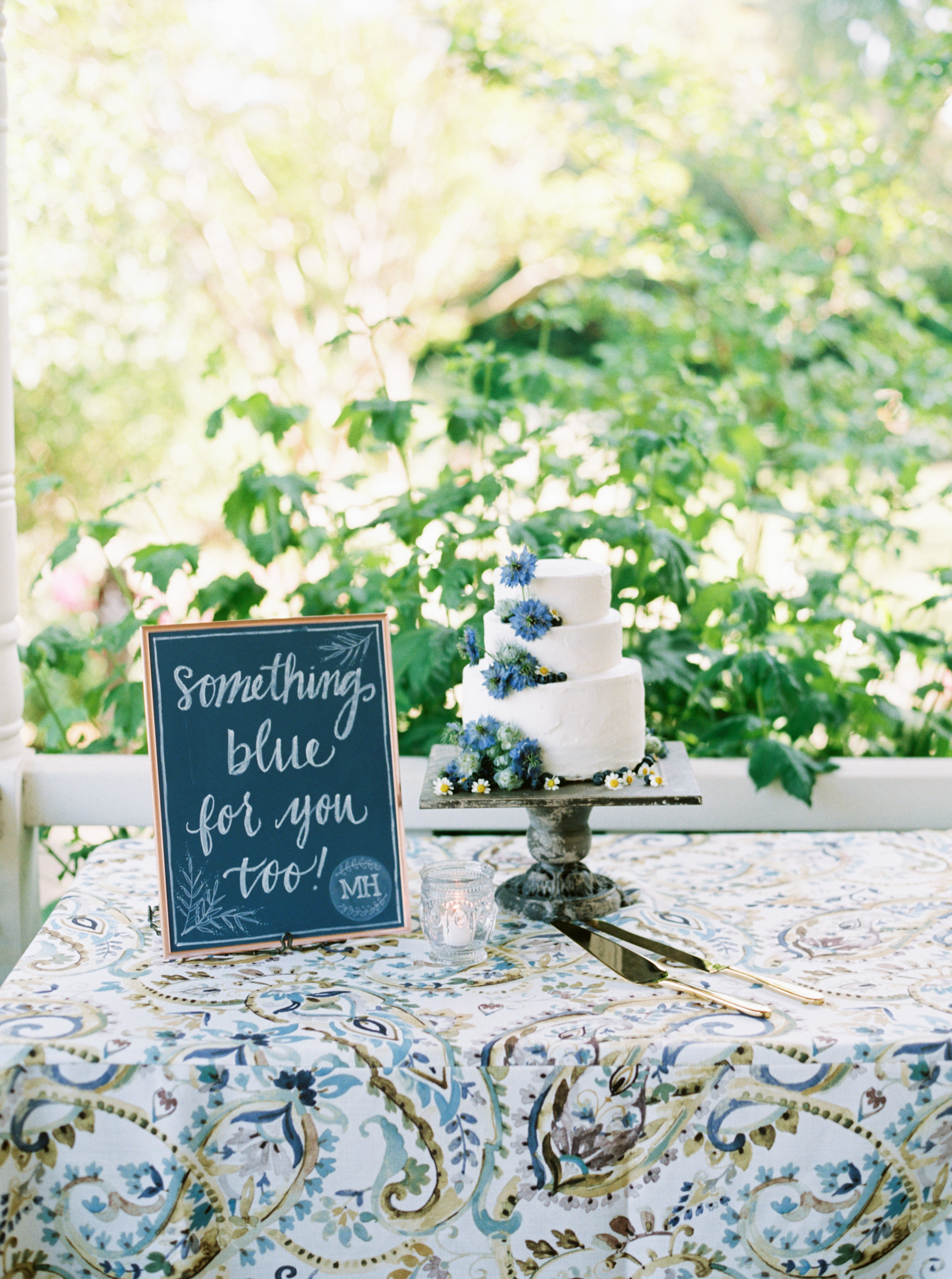 Blueberry cake with nigella-sonoma-maysonnave house-vine country signs