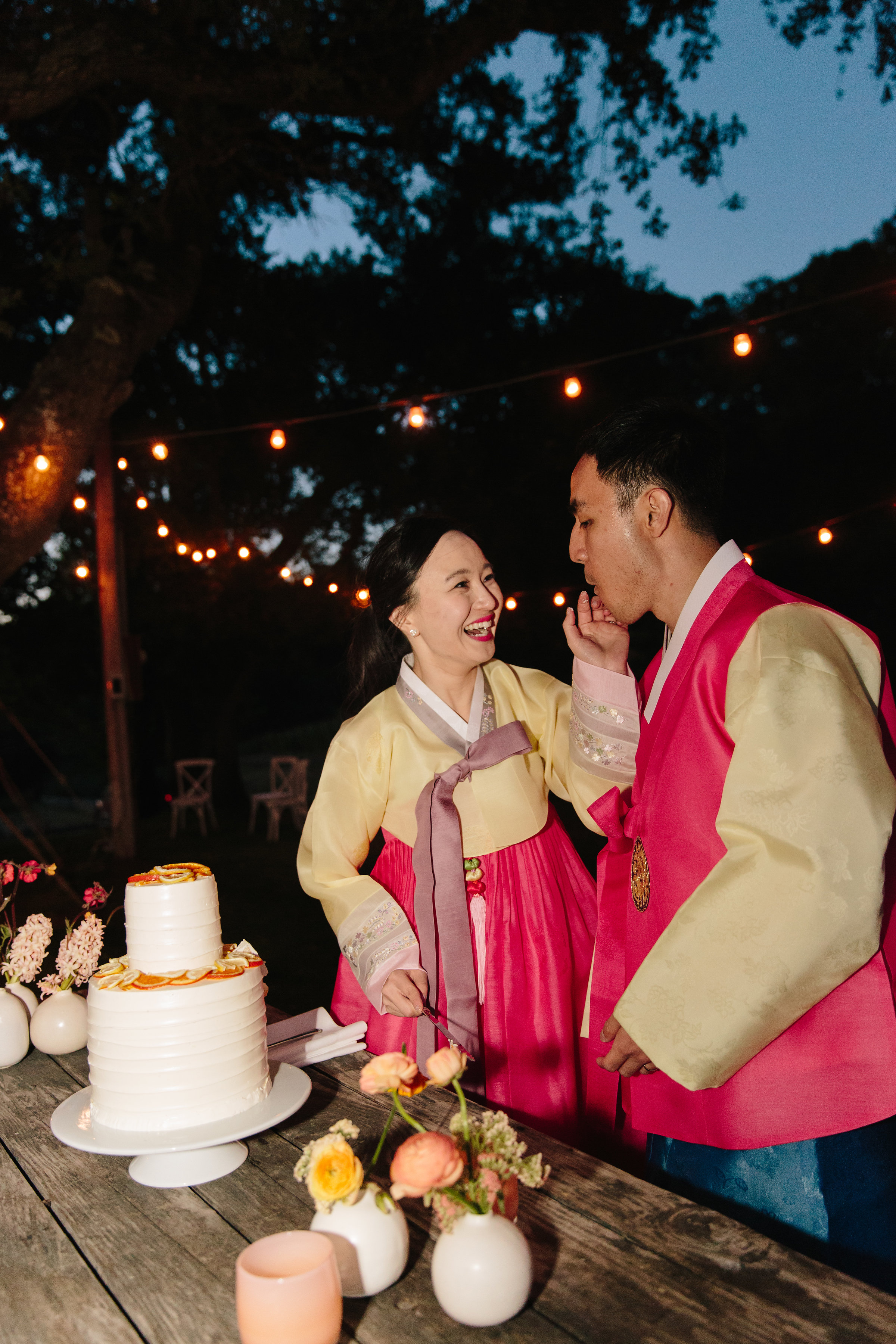 Cake Cutting at Scribe Winery Wedding - Cakebloom-Sonoma, CA - Simone-Anne-Photography