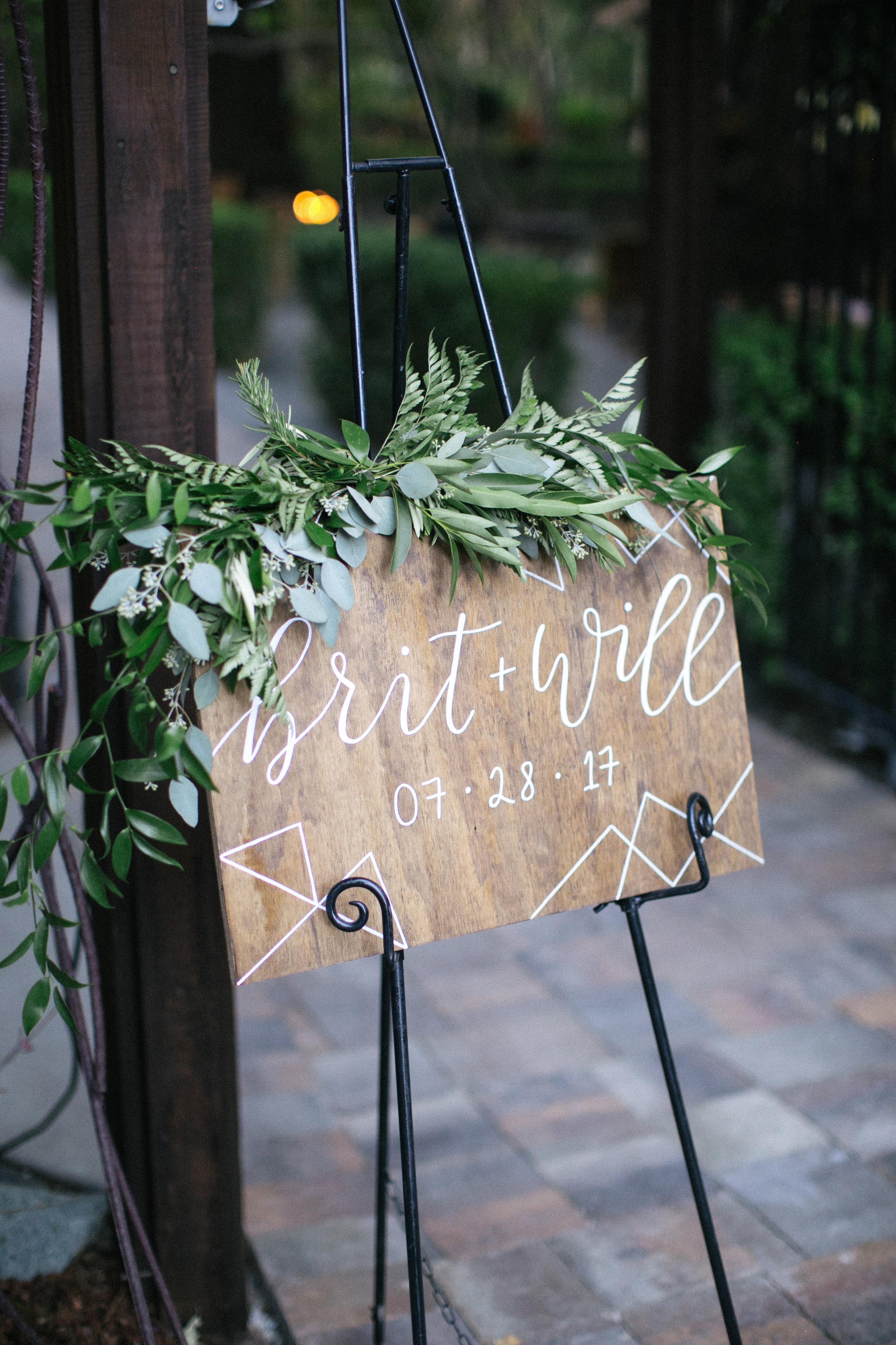 Brit + Will - Wedding signage inspiration - Nichols Photography