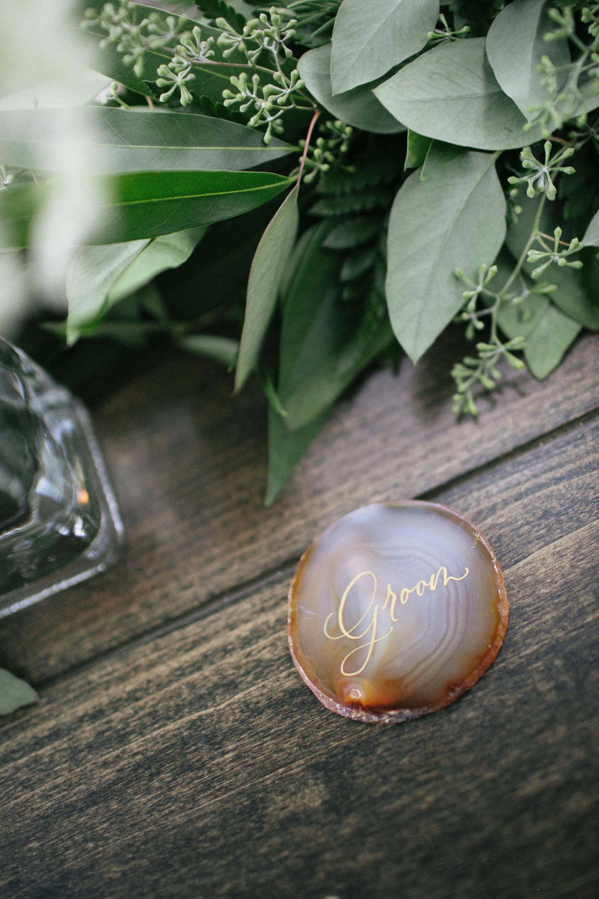 Northern California Wedding Inspiration - Tabletop placecard idea - Nichols Photographers