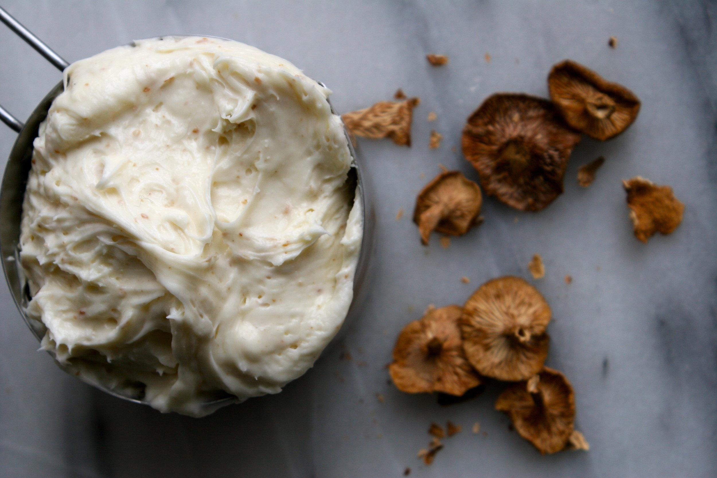 candy cap mushroom cream cheese frosting recipe