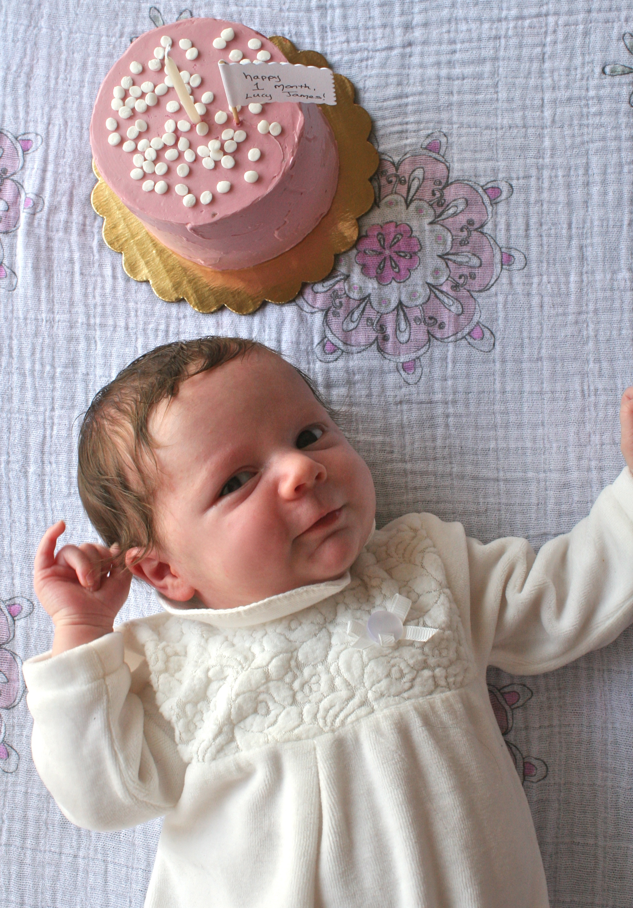All Natural Pink baby Cake