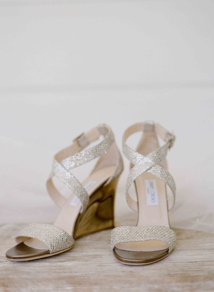 Modern Elegant Wine Country Wedding Shoes by Jimmy Choo | Meg Smith Photography