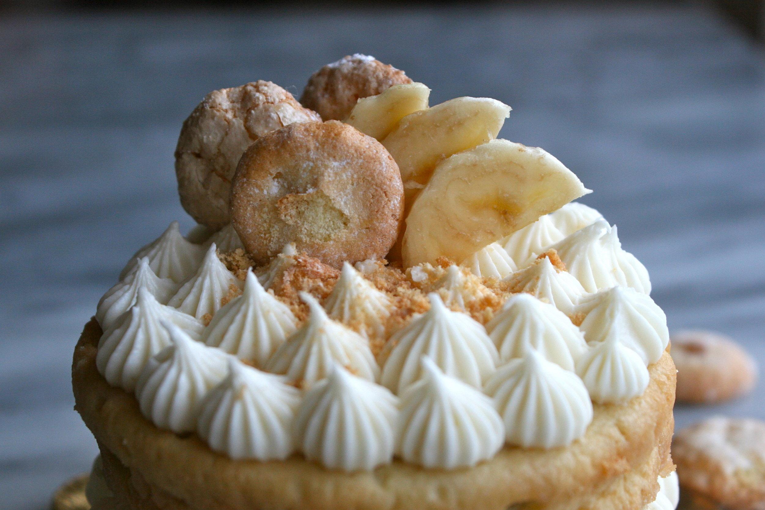 Banana Pudding Cake with Homemade Nilla Wafers