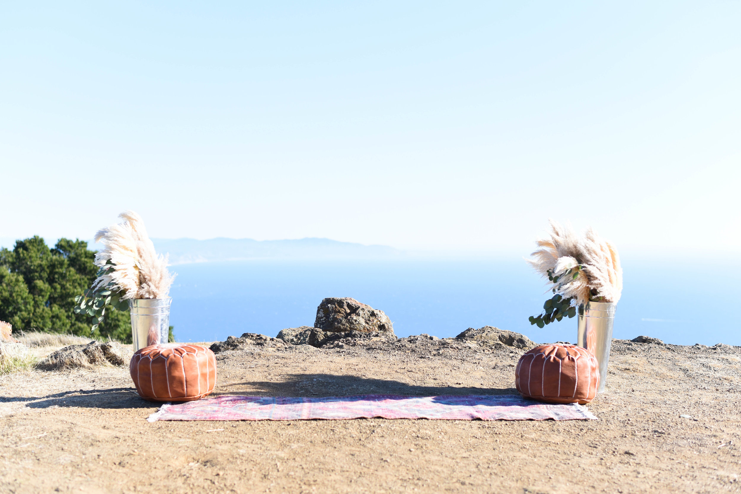 Ariel + Amr's Trojan Point Ceremony on Mt Tamalpais | Northern California Wedding | Jillian Gorman Photography