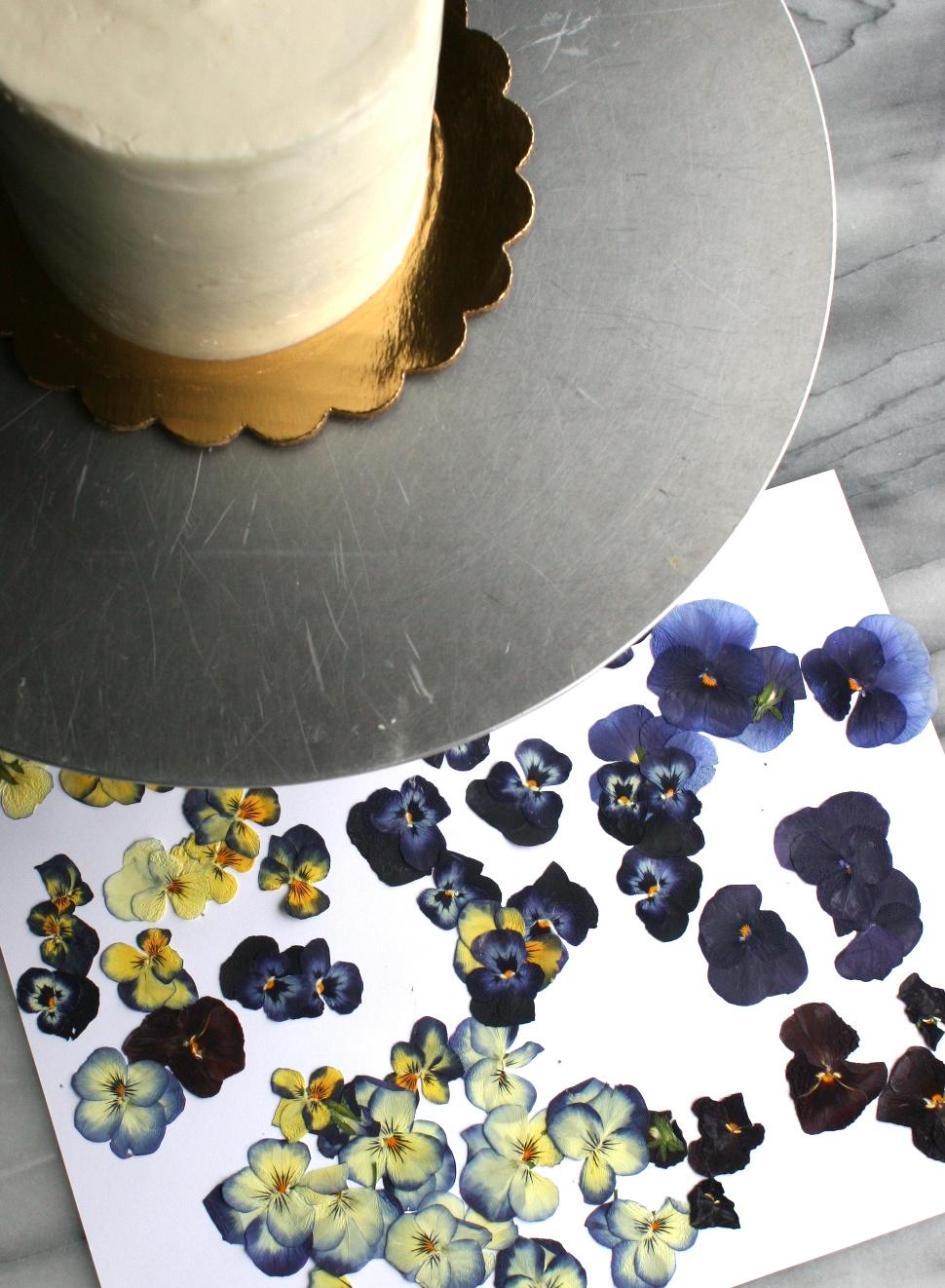 Pressed Edible Flower Cake   Cake Bloom   Sonoma, CA