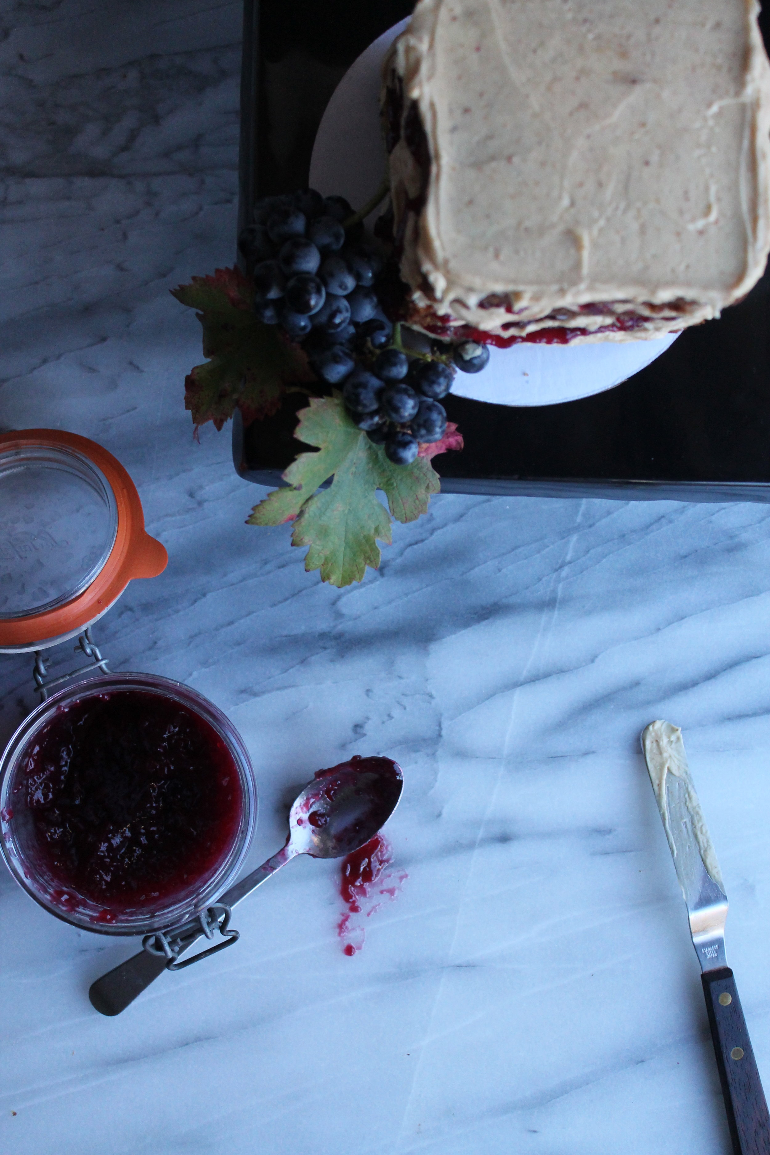 Homemade Cabernet Jelly for PBJ Cake