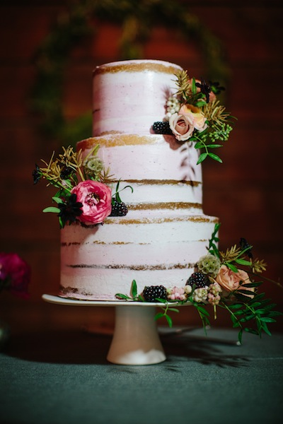 Pink Semi Naked wedding cake by Cake Bloom with fall fruits |Petaluma | Olympias Valley Estate | Sonya Yruel.jpg