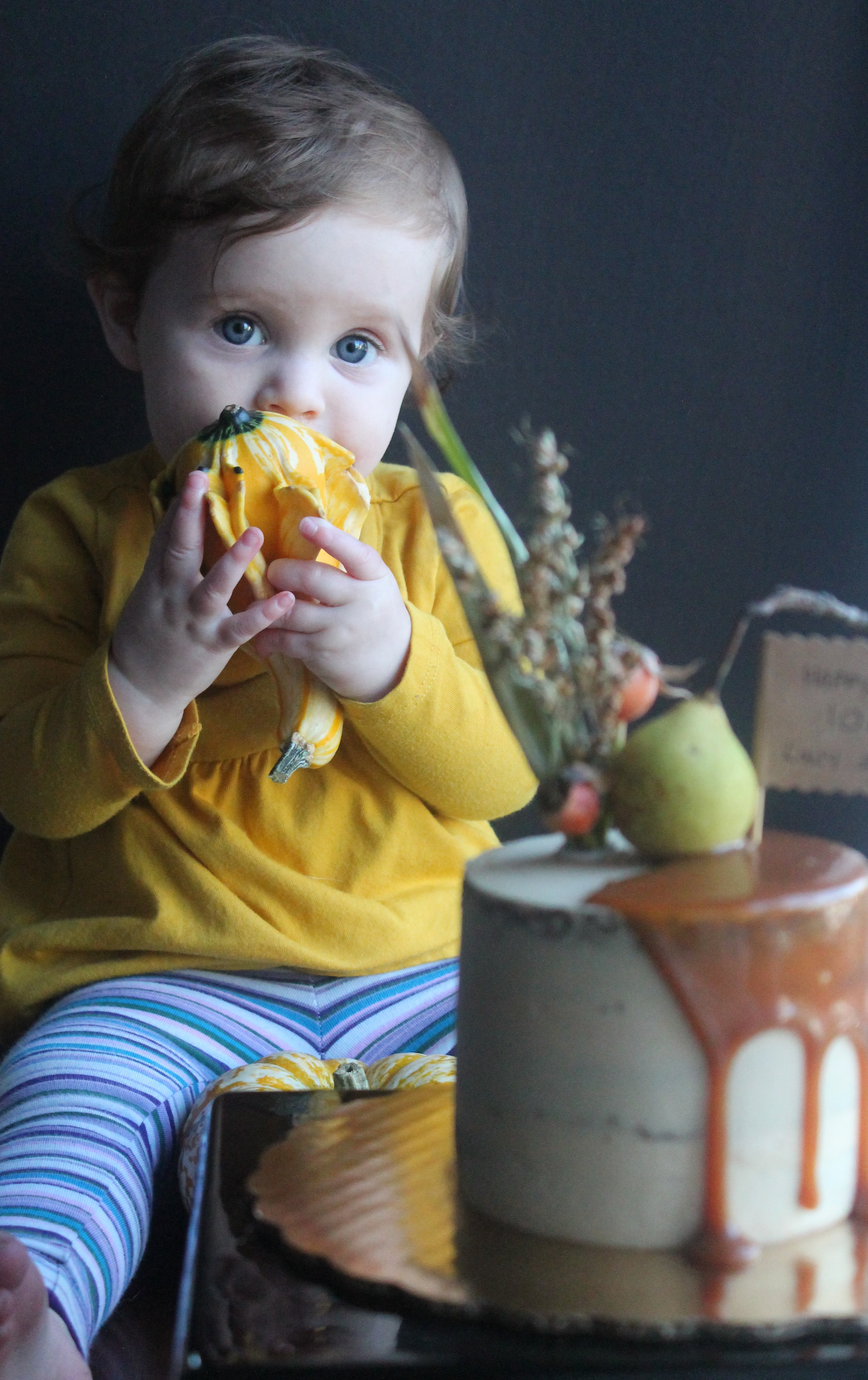Baby Cake with pumpkins