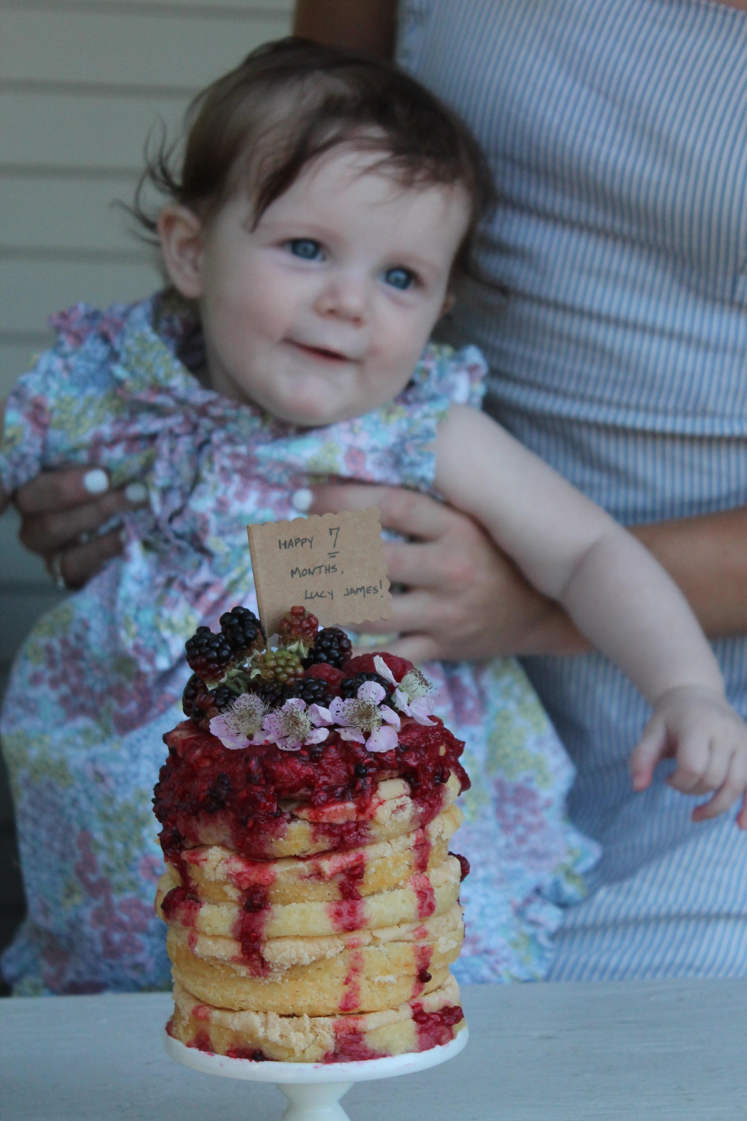 Month 7:  Miss Gertrude's Caramel Cake