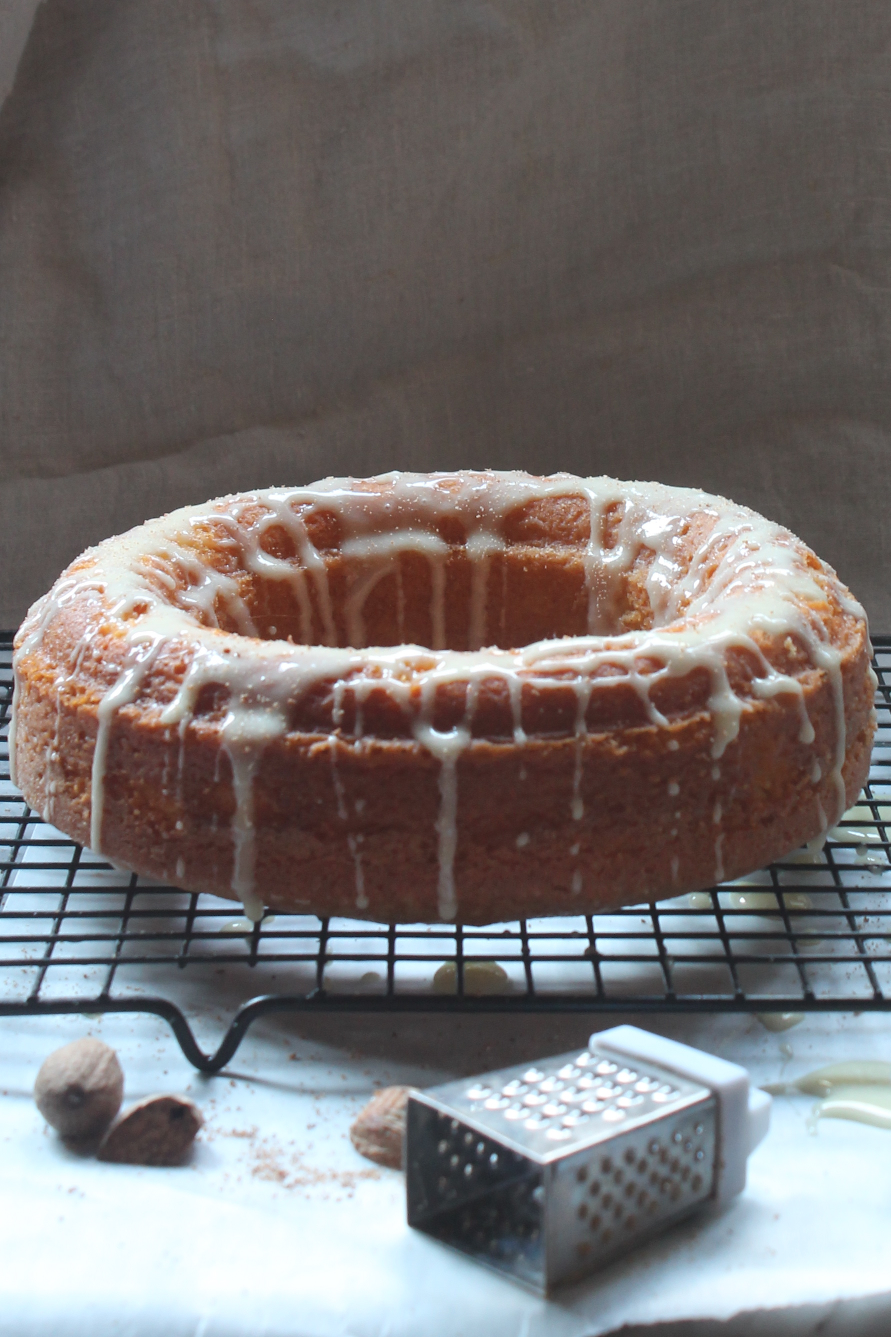 eggnog pound cake recipe with eggnog glaze