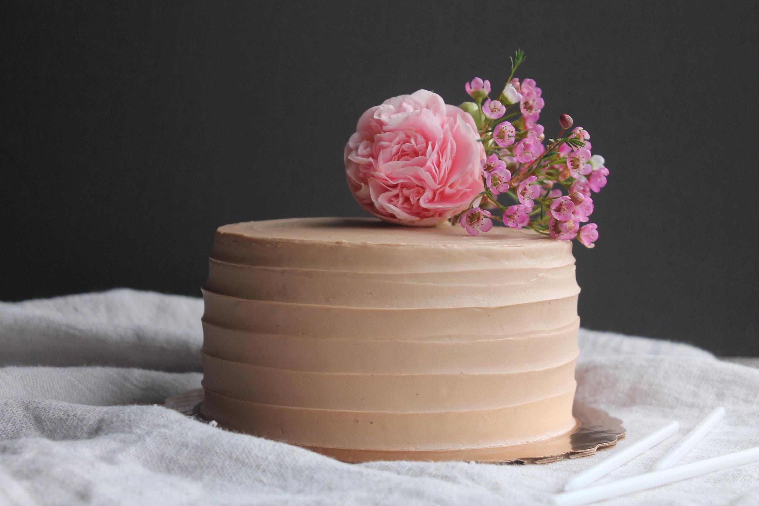 Mocha cake with camellia flower_Cake Bloom January.JPG