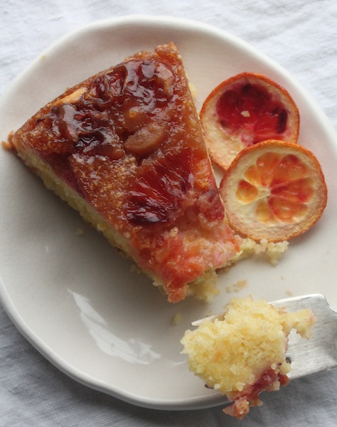 Blood Orange Upside Down Cake slice_Cake Bloom