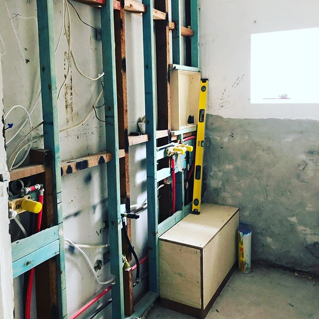 Full day of site visits these pretty pipes are ready for next phase in one of our Killara projects #roughin #building #bathrooms #interiordesign #design #bathroomdesign #interiorarchitecture #ilovemyjob