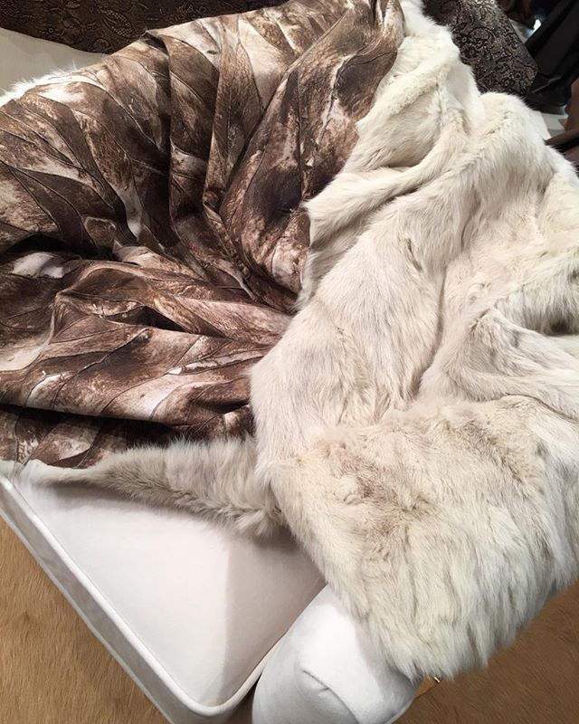Rabbit mosaic throws!  #iloveleather #keepwarm