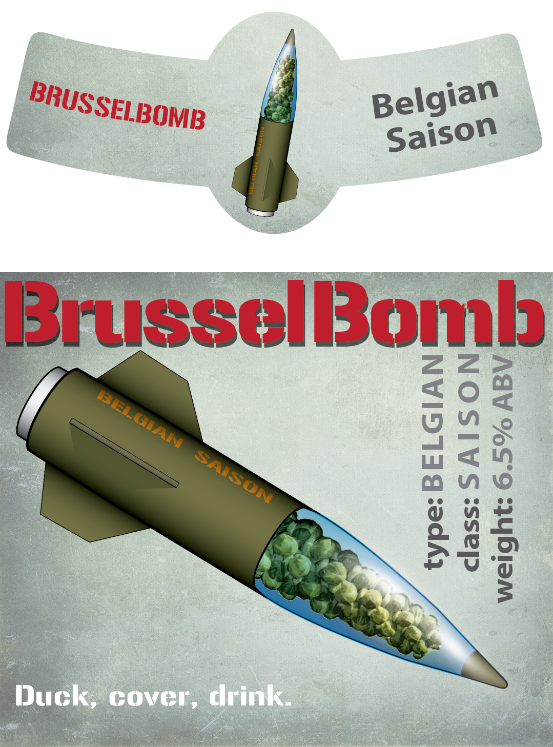 BrusselBomb Beer Label