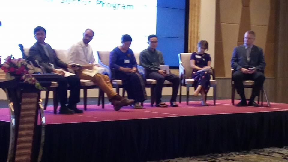 Debate in Nay Pyi Taw on December 1st, 2015 involving participants from the government, NGOs, as well as the private sector.